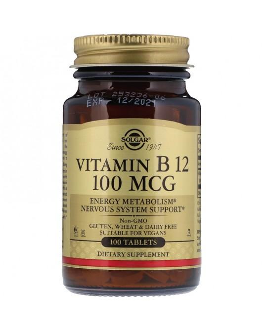 Solgar - Naturalna Witamina B12 100 μg 100 Tabletek