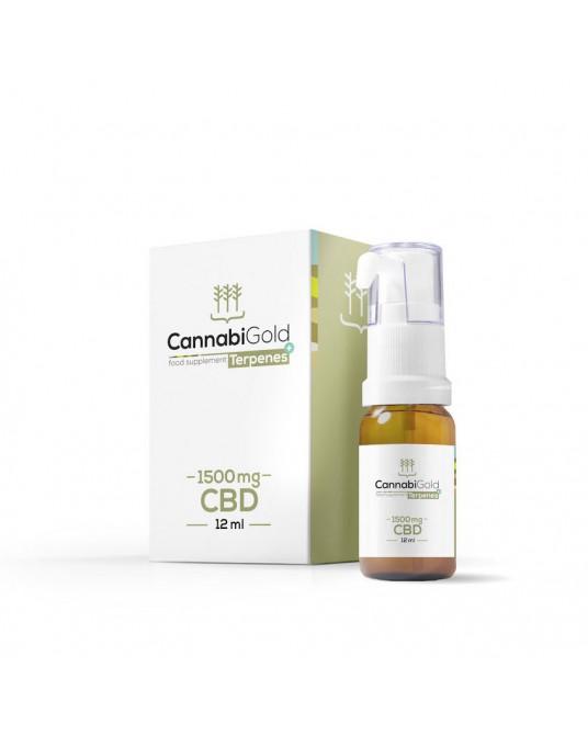 CannabiGold Terpenes+ Kannabidiol i terpeny w oleju 1500mg