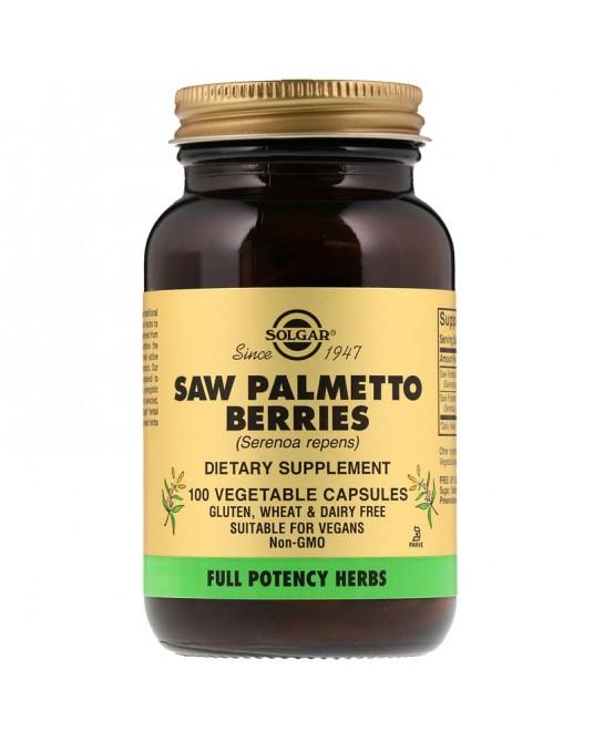 Solgar, Saw Palmetto Berries, 100 warzywnych kapsułek