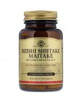 Solgar, ekstrakt z grzyba Reishi Shiitake Maitake, 50 kapsułek warzywnych