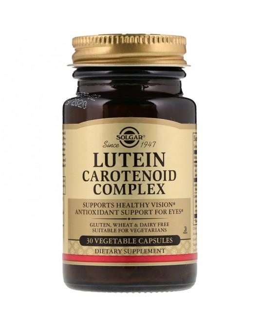 Solgar, Luteina kompleks karotenoidowy, 30 kapsułek roślinnych
