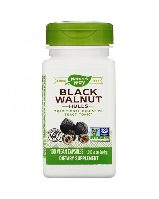 Nature's Way, Łupiny orzecha czarnego, 1000 mg, 100 wegańskich kapsułek