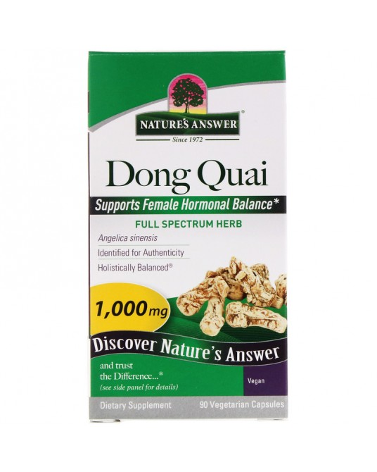 Nature's Answer, Dong Quai, 1000 mg, 90 kapsułek wegetariańskich