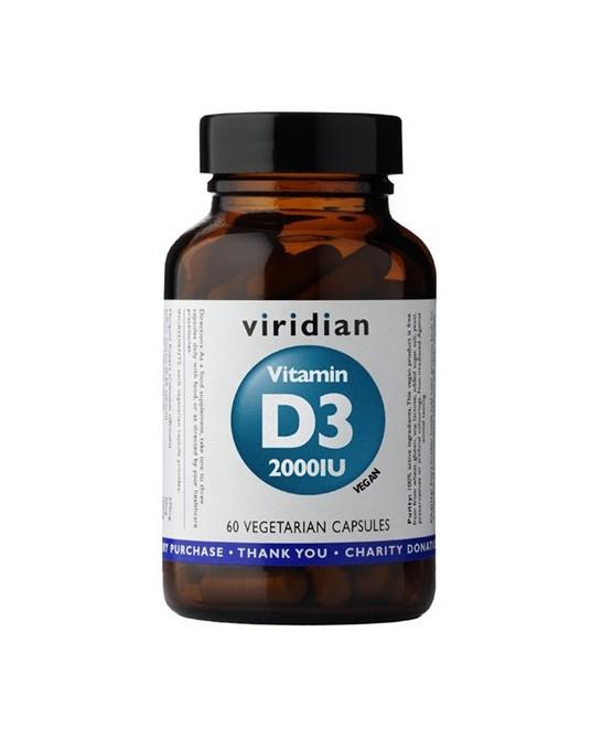 Witamina D3 2000IU (wegan) 60 kapsułek