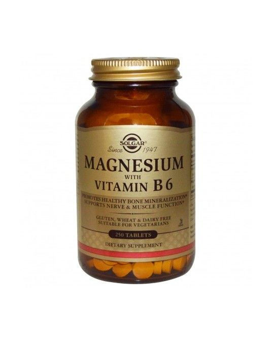 Solgar  Magnez z witaminą B6, 250 tabletek