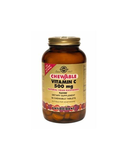 Solgar -  Witamina C 500 mg do ssania o smaku żurawiny 90 Pastylek