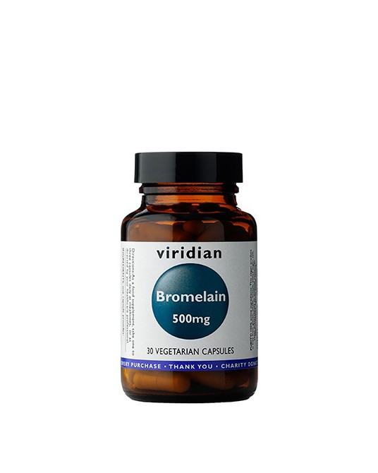 Viridian - Bromelain 500mg 90 Kapsułek