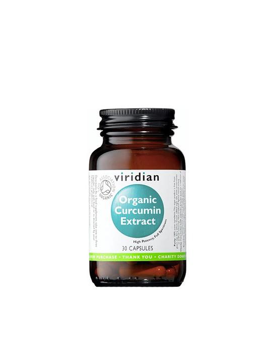 Viridian - Organic Curcumin Extract, 30 kapsułek