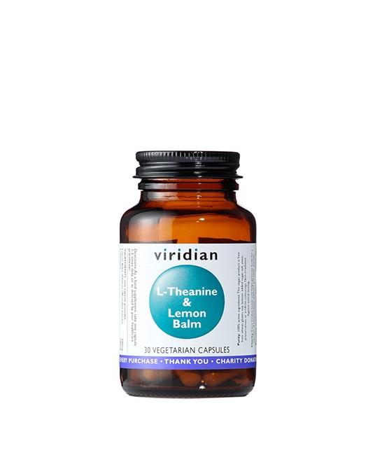 Viridian - L-Theanine and Lemon Balm 30 Kapsułek