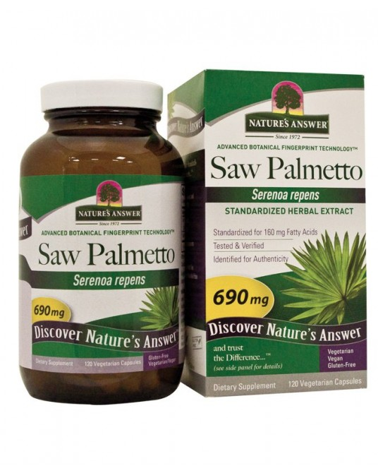 NATURE'S ANSWER, Saw Palmetto Berry, 120 kapsułek