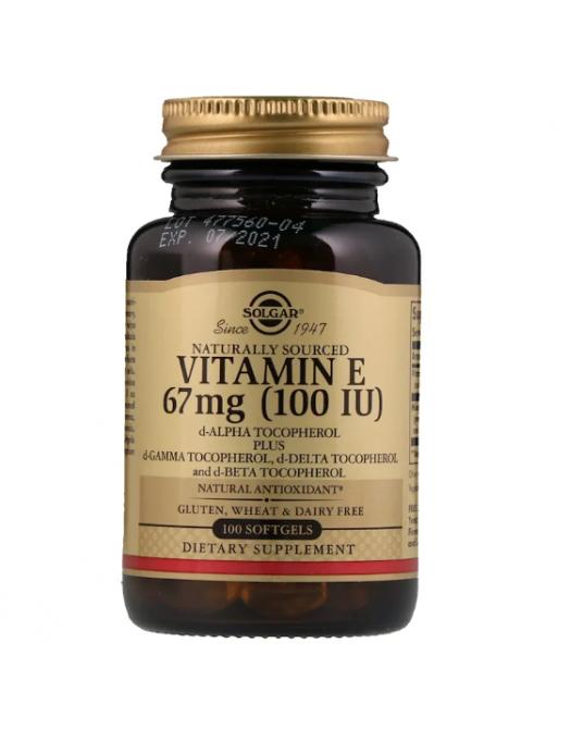 Solgar -  Naturalna Witamina E 67 mg 100 Kapsułek